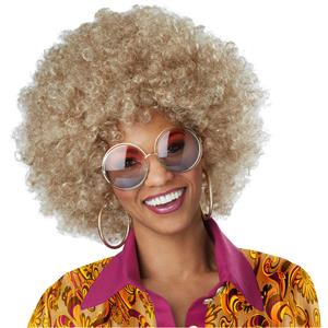 Foxy Lady Light Dirty Blonde Curly Afro 70's 60's Costume Wig