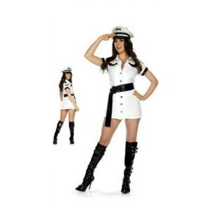 Be Wicked All Aboard Pilot Captain Sexy Plus Size Adult Costume Dress Hat XXL