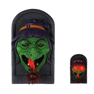 Witch Doorbell Spooky Jime Novelty Gag Door Decoration Creepy Talking Light up