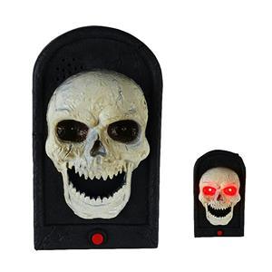 Skull Doorbell Spooky Jime Novelty Gag Door Decoration Creepy Talking Light up