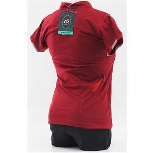 Club Ride Motion Women's Cycling Jersey - Cycling Red - Women's Small