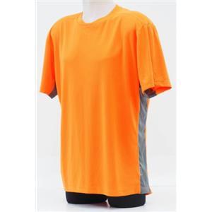 Club Ride Black Top Cycling Jersey - Puffin / Orange - Men's Medium