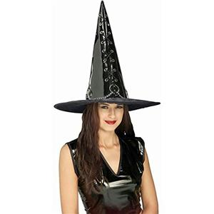 Deluxe Sexy Black Vinyl Gothic Witch Hat