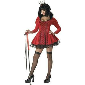 California Costumes Women's Dark Evil Sexy Queen of Hearts Adult Costume Small