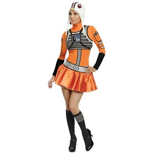 Star Wars Female X-Wing Fighter Pilot Sassy Sexy Adult Costume Size Medium 6-10