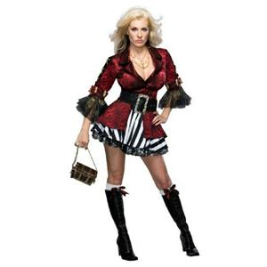 Secret Wishes Treasure Chest Sexy Victorian Pirate Girl Adult Costume Sz Medium