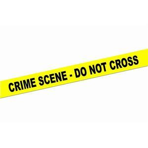 Yellow Crime Scene Do Not Cross Caution Tape Roll Decoration