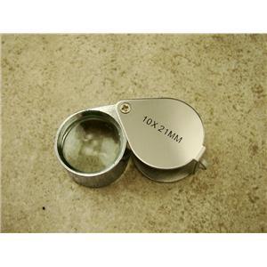Jewlers 10X Metal Loupe Silver Metal Body Glass Lens 10X22MM