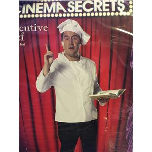 Cinema Secrets Executive Chef Plus Size Costume Coat and Hat Size XXL