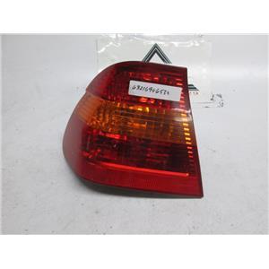 01-05 BMW E46 left outer tail light 325i 330i 63216946533