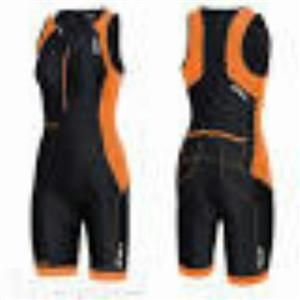2XU Women's Perform Trisuit - Black / Orange - Women's Small