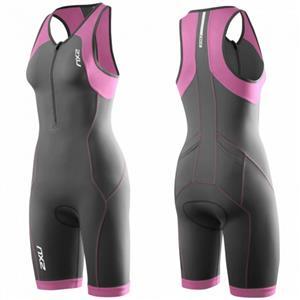 2XU Women's Active Trisuit - Black / Pink - Women's Small