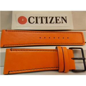 Citizen Watch Band AT2217-01H Orange 26mm Genuine Leather.Back # H5601-S086264