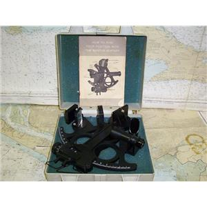 Boaters Resale Shop of TX 1610 2521.01 DAVIS MARK 15 SEXTANT & MANUAL IN CASE