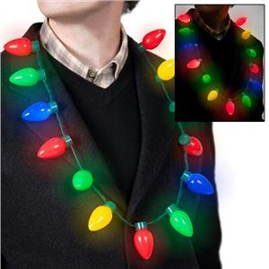 Retro Large Christmas C7 Bulb Necklace Light Up Flashing LED Lights Christmas