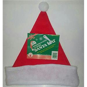 Personalized Classic Santa Hat with Easy Iron on Letters & Decorations 22014