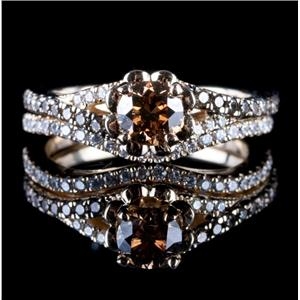levian 14k yellow gold chocolate diamond diamond wedding ring set 127ctw - Chocolate Diamond Wedding Ring Sets