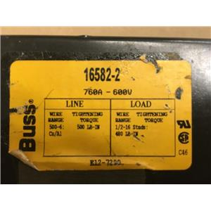 Buss 16582-2 Power Distribution Block760A 600V 2P
