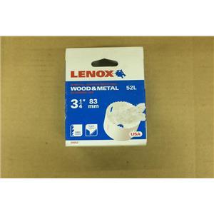 "Lenox 30052 52L 3-1/4"" 83MM Wood & Metal Hole Saw"
