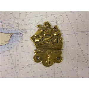 Boaters Resale Shop of TX 773692321622 DECORATIVE BRASS GALLEON COAT HOOK