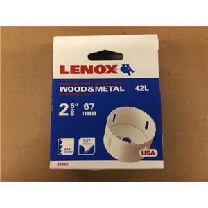 Lenox 42L 2-5/8 Inch Bi-Metal Hole Saw 3004242L