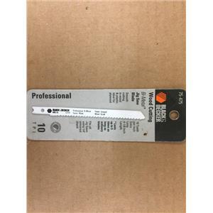 Black & Decker Bi-Metal Jig Saw Blade 10 TPI 4-1/8 inch 75-475