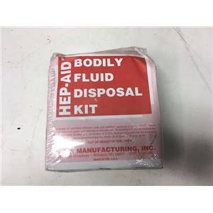 H&S Manufacturing HEP-AID Bodily Fluid Disposal Kit 13W858, Apron, Goggles, Shoe Covers, Face Mask