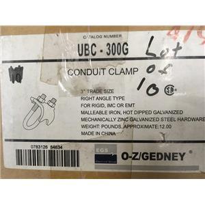 (Lot of 10) O-Z/Gedney UBC-300G Conduit Clamp