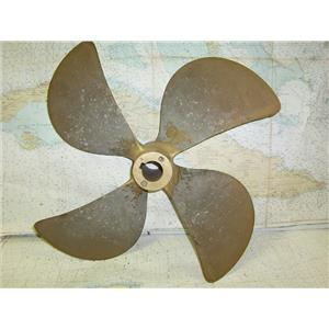 """Boaters Resale Shop of TX 1612 0251.01 BRONZE 4 BLADE 23LH22 PROP FOR 2"""" SHAFT"""
