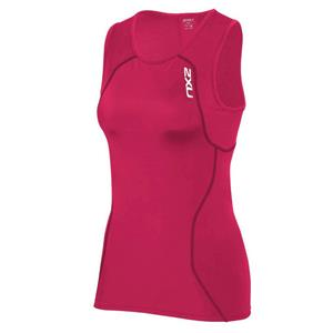 2XU Active Tri Singlet Women's Small Pink / Black