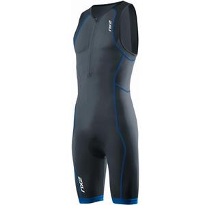 2XU Men's Active Trisuit Charcoal / Blue Trim Medium