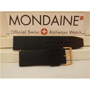 Mondaine Swiss Railways Watch Band 24mm Silicone Rubber Diver/Sport. 4mm Thick