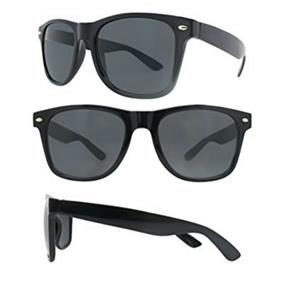 Black Sunglasess Lightweight 100% UV Protection Dark Lens Blues Nerd