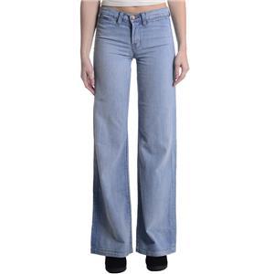 24 NEW J Brand Malik Premium Denim Wide Leg Rigid Jeans in Powder Chambray 1322