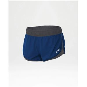 "Women's 2XU Pace 3"" Shorts - Blue / Gray - Small"