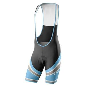 Men's 2XU Sub Cycle Bib Shorts - Black / Blue - Medium