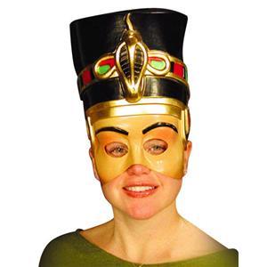 Nefertiti Ancient Egyptian Queen Cleopatra Semi Rigid Plastic Half Face Mask