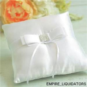 Lot of 3 New Wedding Collection Gartner Studios Bow Ring Pillows in White