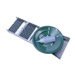 "Back Packing 18"" Aluminum Sluice Box - 8"" Gold Pan, Vial & Snuffer - River"