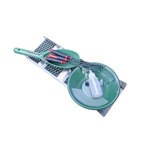"""Back Packing 18"""" Sluice Box - 8"""" Gold Pan, Vial, Snuffer, Crevice Tools & Scoop"""