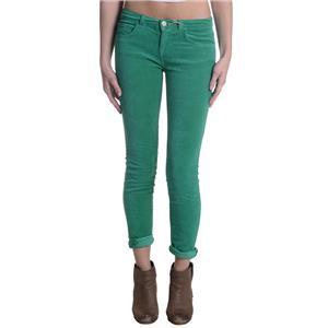 24 NWT J Brand Jeans Stretch Velvet 811 Mid-Rise Skinny Leg Emerald Green Pants