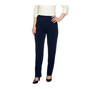 Susan Graver Essentials Size 2X Dark Navy Liquid Knit Straight Leg Pants
