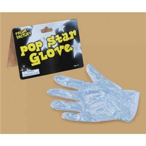 Silver Holographic Shimmery King of Pop Star Glove Child or Adult Rock Singer