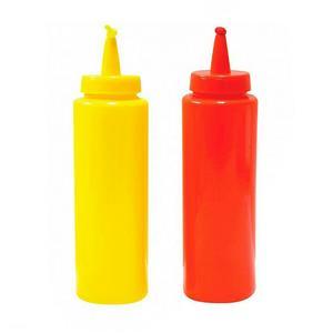 Novelty Phoney Fake Ketchup And Mustard Squirter Bottles Gag Classic Prank Joke