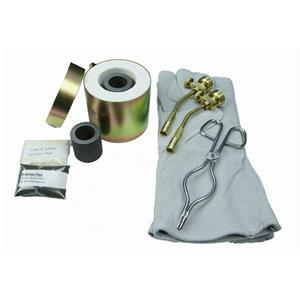 Mini Propane Gas Furnace - Kiln, Flux, Tips, Gloves, Crucibles, Tongs - Kit