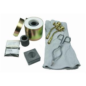 Mini Propane Gas Furnace Kit-Conical Mold, Kiln, Tips, Gloves, Crucibles, Tongs