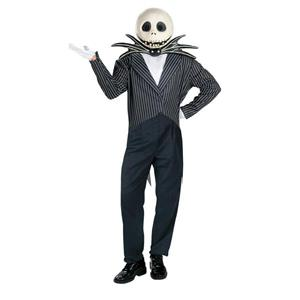 Nightmare before Christmas Deluxe Jack Skellington Adult Costume Size XL 42-46