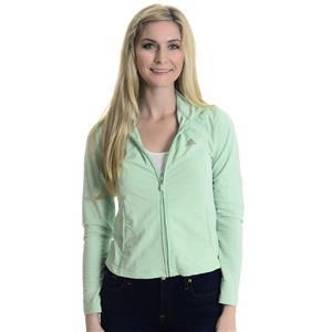Sz S Adidas Clima365 Mint Green Long Sleeve Full Zip Mock Neck Track Jacket