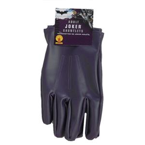 Rubie's Batman Dark Knight The Joker Purple Costume Gloves Gauntlets