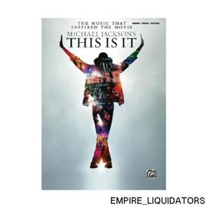 Alfred Michael Jackson's This is It (Music Book) Instrument: Piano/Vocal/Chords